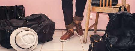 fashion men bags 版權商用圖片