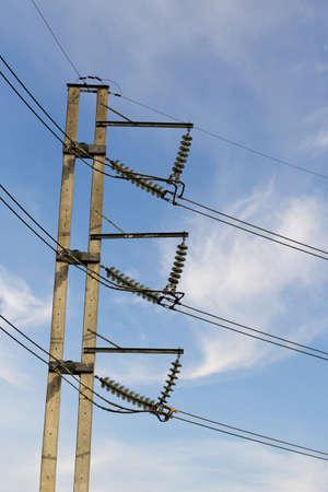 electricity post 版權商用圖片