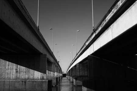 Bridge Thailand black and white