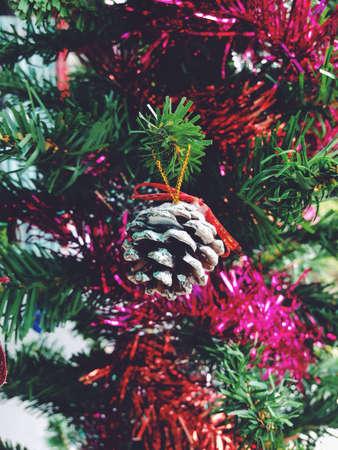 closeup: Christmas tree pine cone 2015 Stock Photo