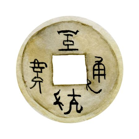 chinese coins ancient, background, wealth, illustration, china, metal