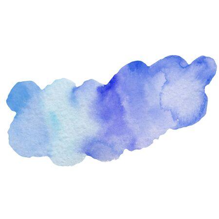 Watercolor blue cloud illustration. Scandinavian style background. Cartoon cute cloud