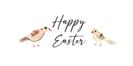 Easter greeting abstract card with cut out paper flying dove with olive branch and egg shape. Flat design
