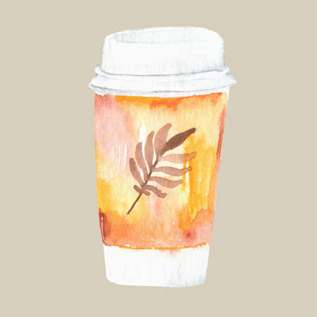 Hand drawn cup of coffee with text I Am a Coffee Addict and decorative elements. 스톡 콘텐츠