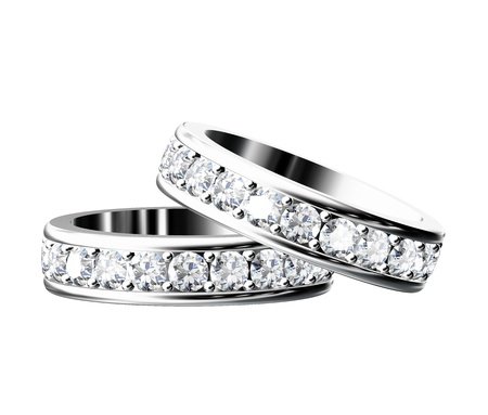 diamond ring: The beauty wedding ring on white background