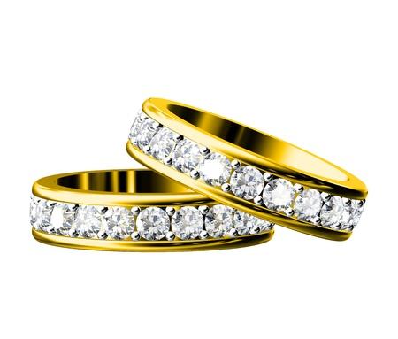 The beauty wedding ring on white background photo