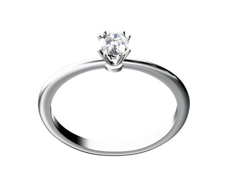 The beauty wedding ring on white background Stock Photo - 10356638