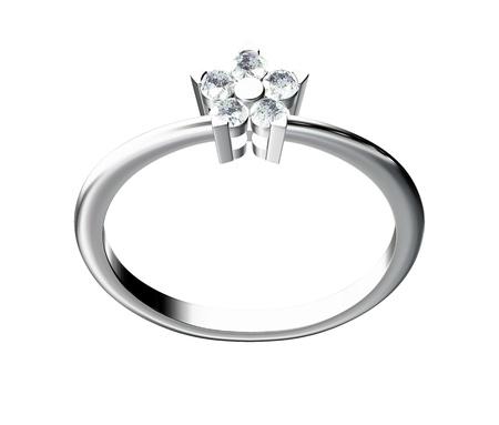 The beauty wedding ring on white background Stock Photo - 10356644