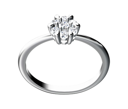 gold ring: The beauty wedding ring on white background