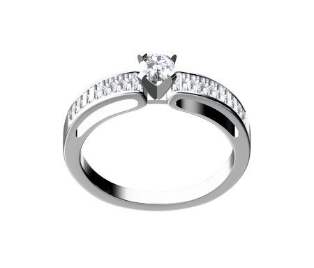 Diamond ring isolated on white background Stock Photo - 10356647