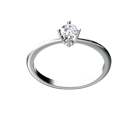 The beauty wedding ring on white background Stock Photo - 10356641