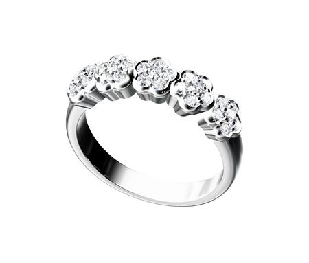 diamond rings: Diamond ring isolated on white background