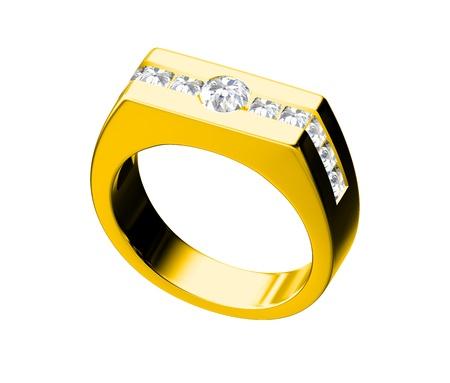Diamond ring isolated on white background Stock Photo - 10356645
