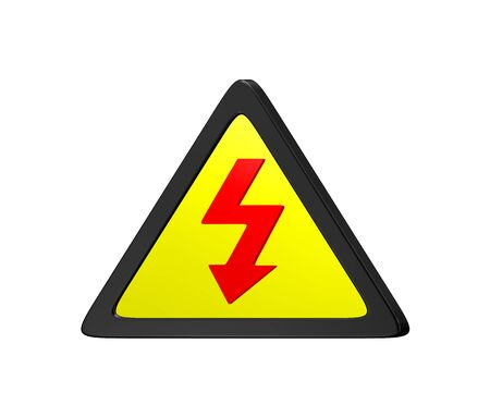 High Voltage Sign On A Wall Stock Photo