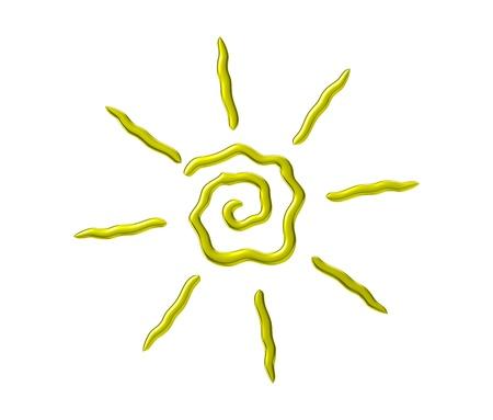 Sun logo isolate on white background photo
