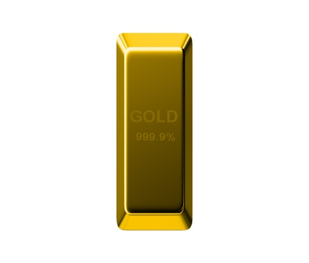 gold bar: Gold Bar isolated on white background Stock Photo