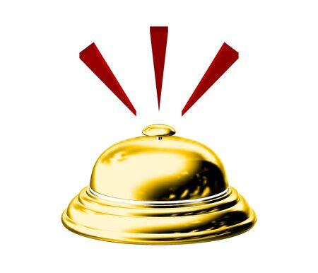 De metal y oro Bell Hotel