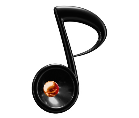 tunes: Music note in white background