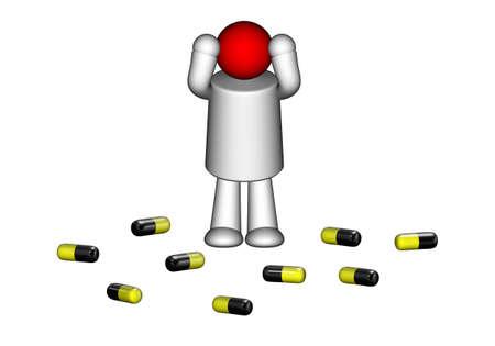 druggie: Mal di testa Archivio Fotografico