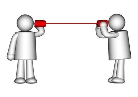 Communication concept isolated on white photo