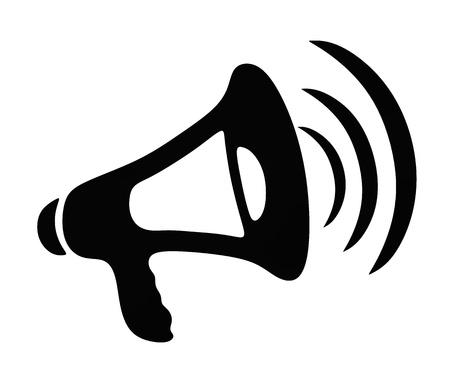 berisping: Vector illustratie van een megafoon