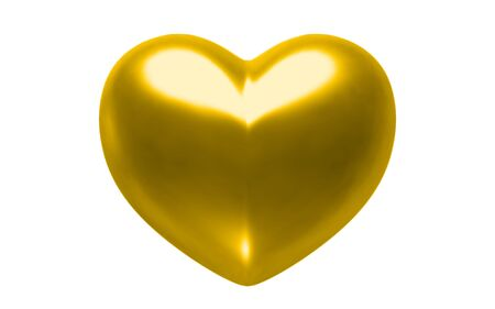 Gold heart photo