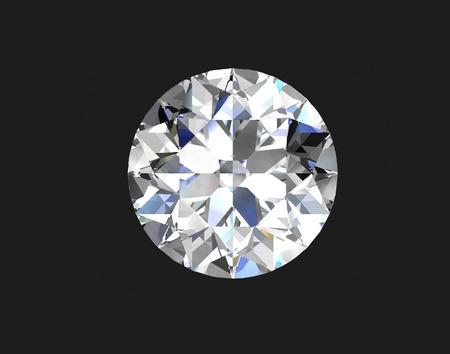 diamante negro: Ilustraci�n de un diamante redondo