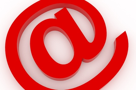 Conceptual Email sign photo