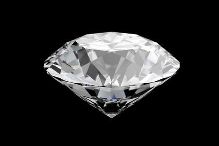 diamonds on a black reflective floor Stock Photo