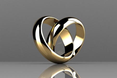 The beauty wedding ring photo