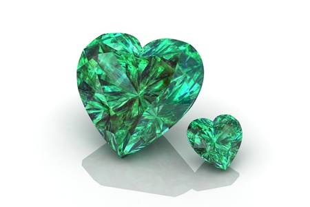 scintillation: emerald  Stock Photo