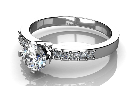 diamond ring: The beauty wedding ring Stock Photo