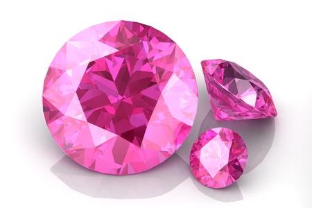 fake diamond: pink sapphire  Stock Photo