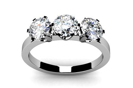 engagement ring: Wedding ring on white background