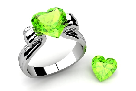 Wedding ring on white background  photo