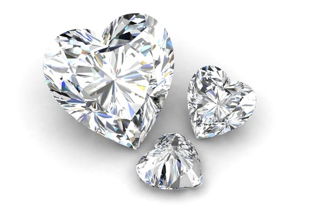 heart shape diamond on white  Stock Photo - 12756229