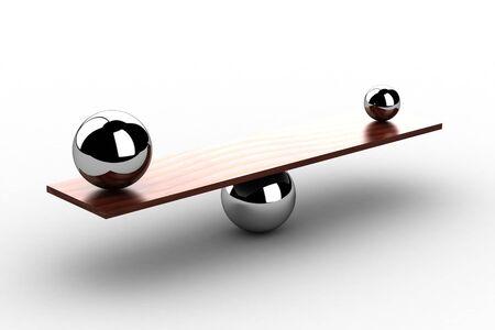 balance icon: disbalance  high resolution 3D image   Stock Photo