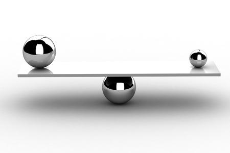 disbalance  high resolution 3D image   Stock Photo