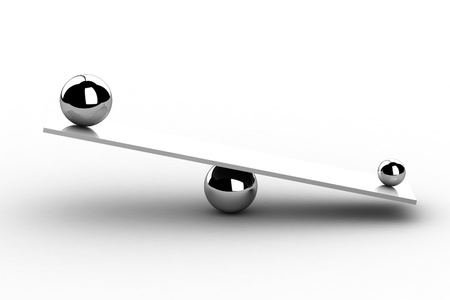 balance icon: disbalance  high resolution 3D image   Stock Photo