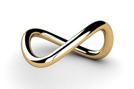Goldene Infinity Symbol Standard-Bild
