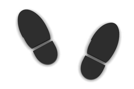 muddy track: Boot print  Stock Photo