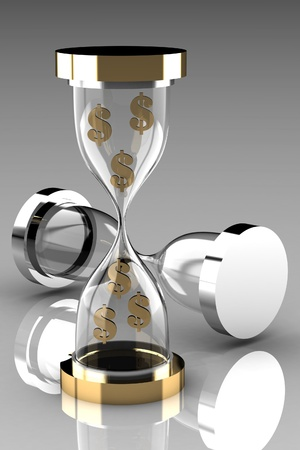 time account: Time is money  Waste time concept