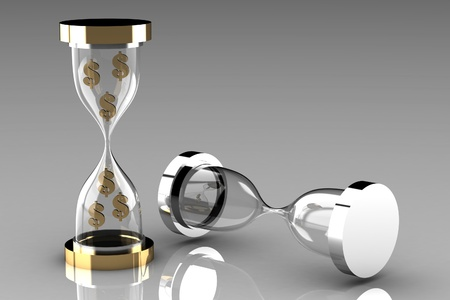 sand dollar: Time is money  Waste time concept