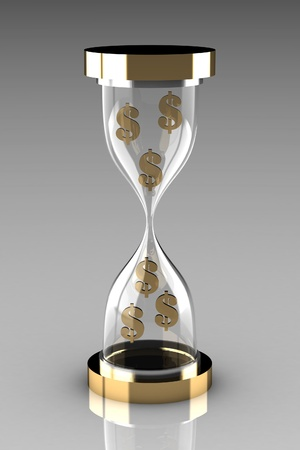 Time is money  Waste time concept