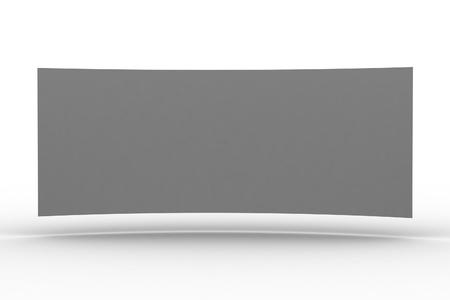 3d blank billboard on white background photo