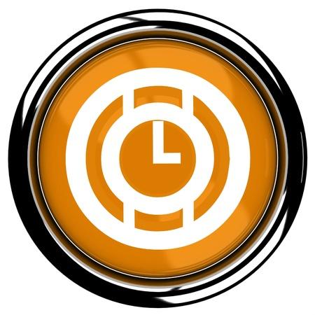 Orange time icon Stock Photo - 13111205