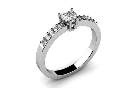 아름다움 결혼 반지 3D