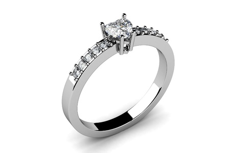The beauty wedding ring  3D photo