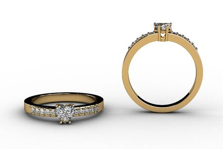 The beauty wedding ring  3D Stock Photo - 13223649