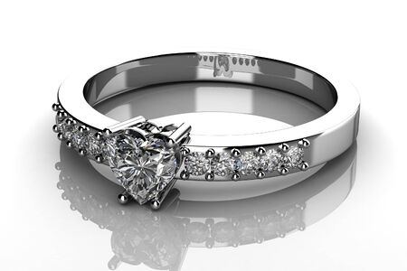 The beauty wedding ring  3D Stock Photo - 13223752